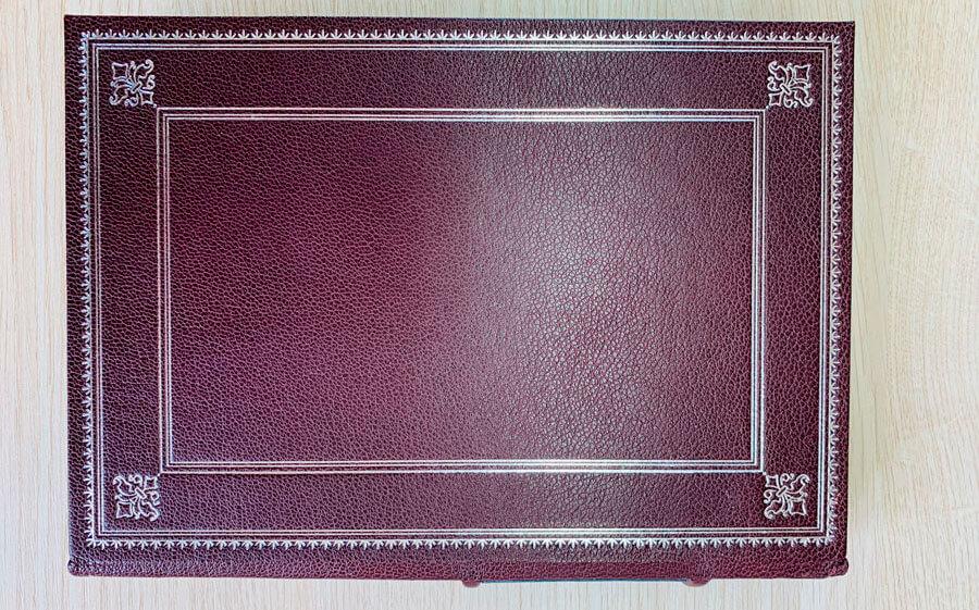Кожаный переплет книги Саковича издательства Сегмент коричневый фото-7